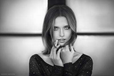 Jane девушка портрет чёрно-белое гламур фешн модель