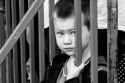 """""""Без границ"""" ребёнок мальчик черно-белое портрет"""