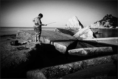 Рыбачка Соня море девушка горы