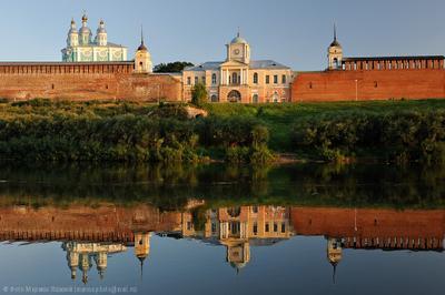 Вечерний вид на Смоленский кремль Смоленск Кремль