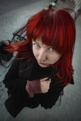 ... девушка рыжая взгляд глаза волосы портрет