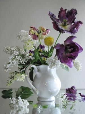 *** цветы букет тюльпаны нарциссы сирень наталия тихомирова celesta