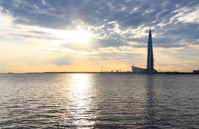Небоскрёб Санкт-Петербург закат город небоскрёб