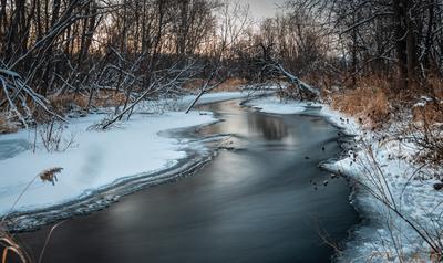 *** река природа пейзаж осень зима камчатка мильково