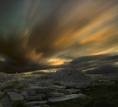 Сон Финского залива №12 апрель 2010, весна, торосы, Финский, залив, длинная, выдержка