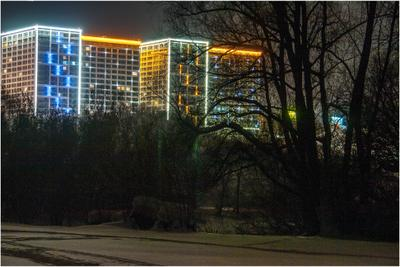Ночной город город Новосибирск ночь дома прогулка mamanna2007
