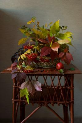 Осенний букет с калиной.