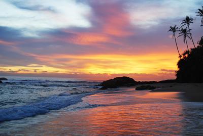 Закат закат океан небо