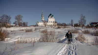 Хлеб насущный зима февраль крестьянин дед церковь осенево