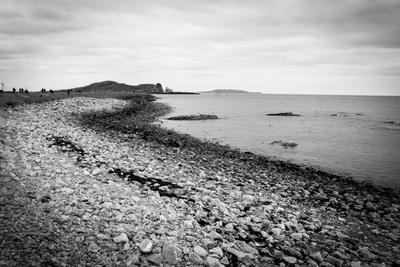*** Берег море изгиб черно-белое Хоут Ирландия