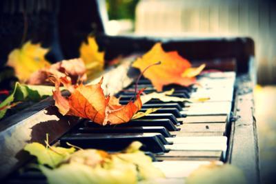 *** осень, парк, пианино