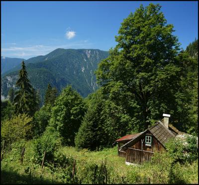 *** Австрия Гальштат Hallstatt горы избушка
