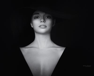 *** портрет девушка красота стиль творчество фото фотосессия арт-фото чб черно-белое