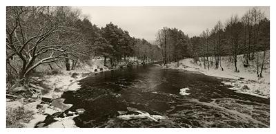 Зимняя река #1 Зима река Рождество