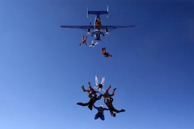 База парашют парашютисты парашютизм рекорд skydive skydiving высота небо люди экстрим спорт самолет