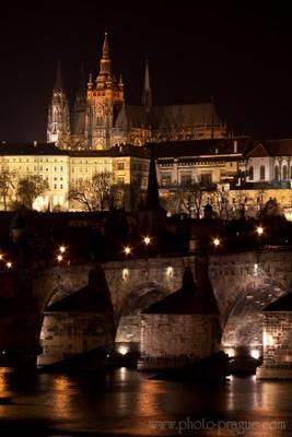 ночная Прага ночь Прага чехия карлов мост