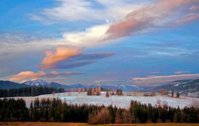 ***Январское  утро в Татрах Утро Татры облака горы