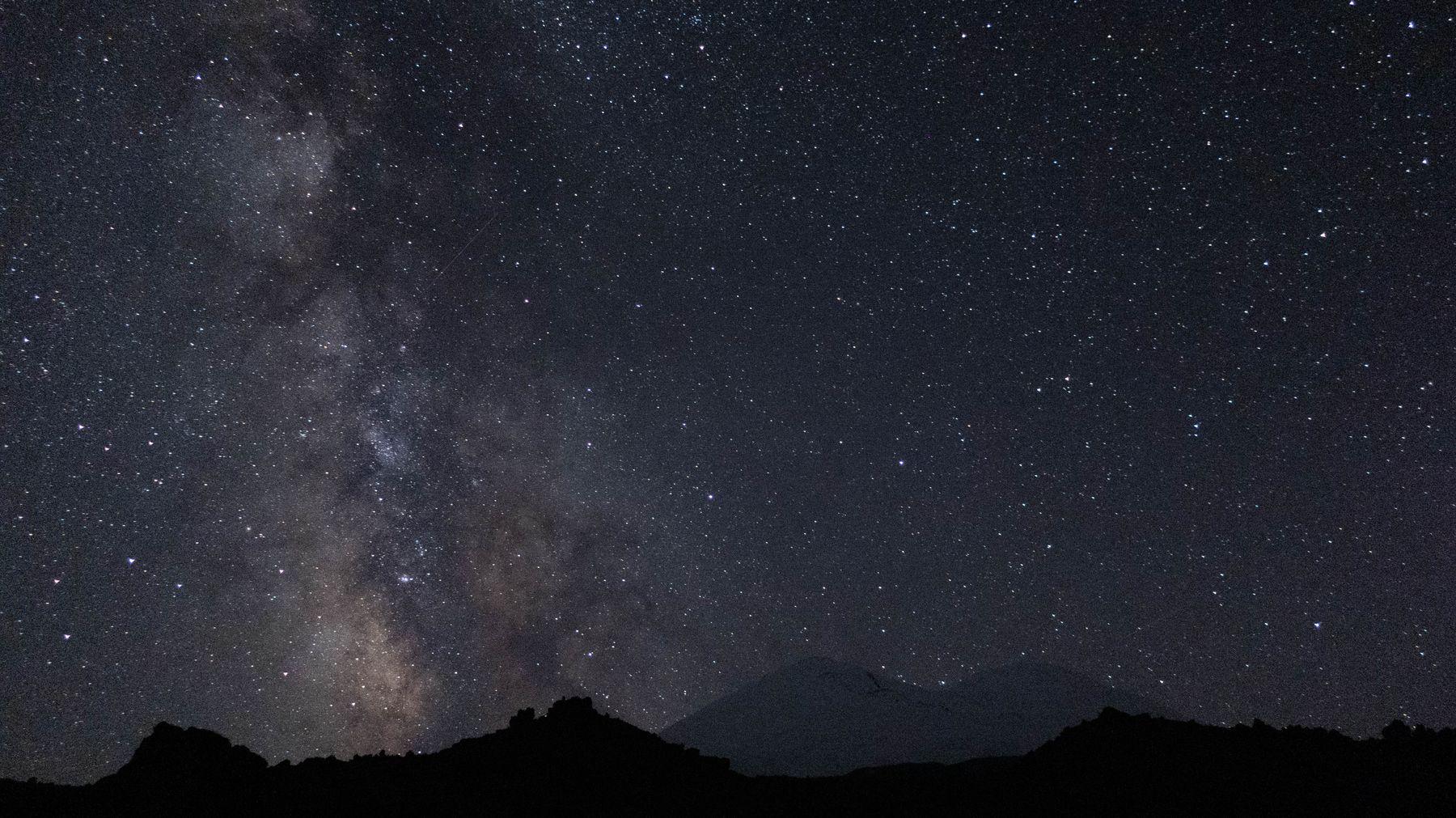 *** горы природа звезды