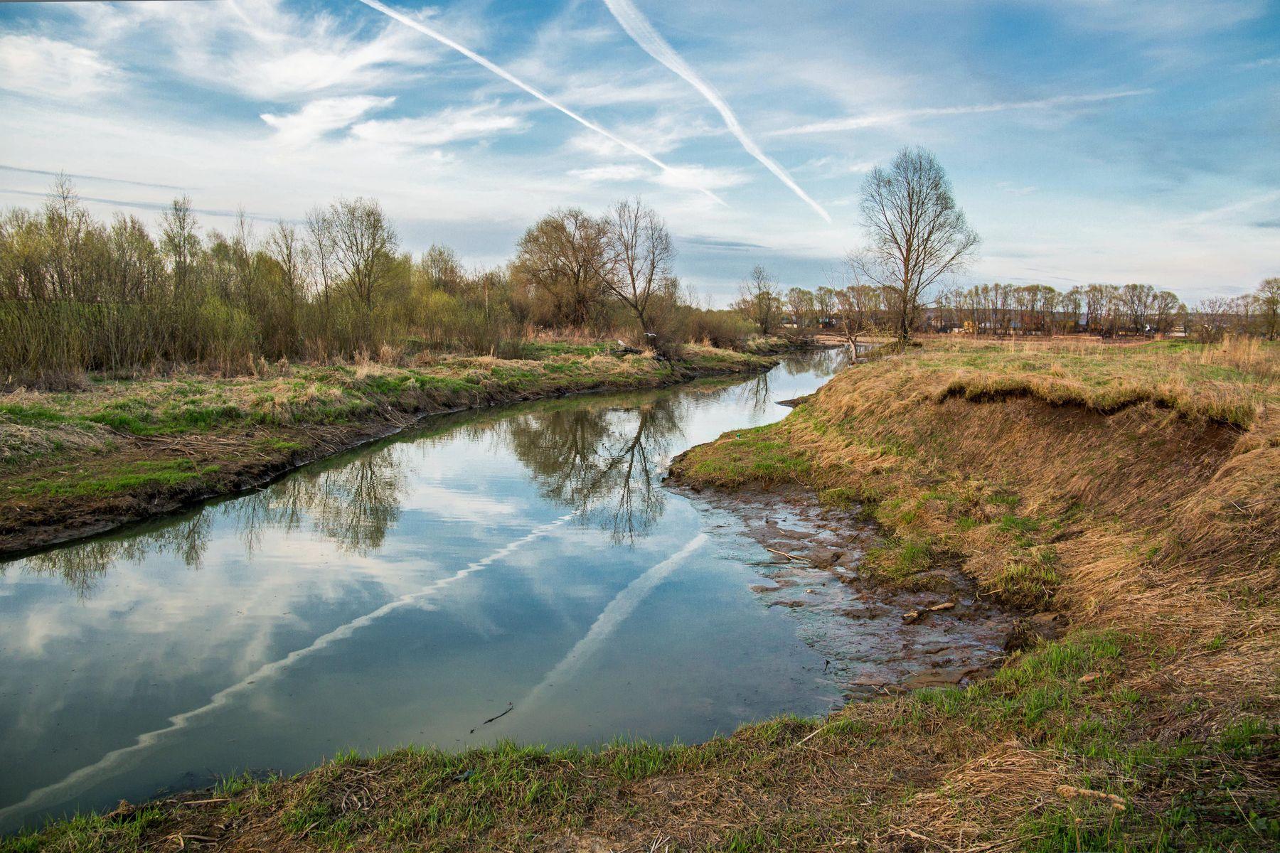 *** природа пейзаж весна протока река казанка татарстан