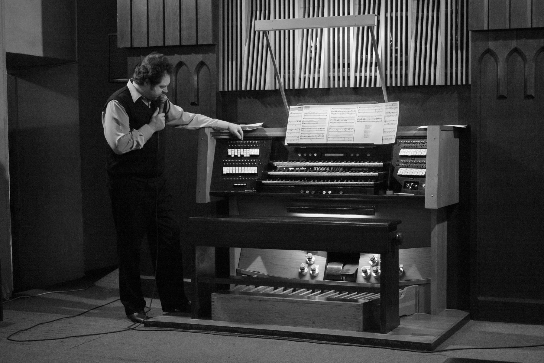 Андрей Бардин на экскурсии по Органному залу Органный зал Красноярск
