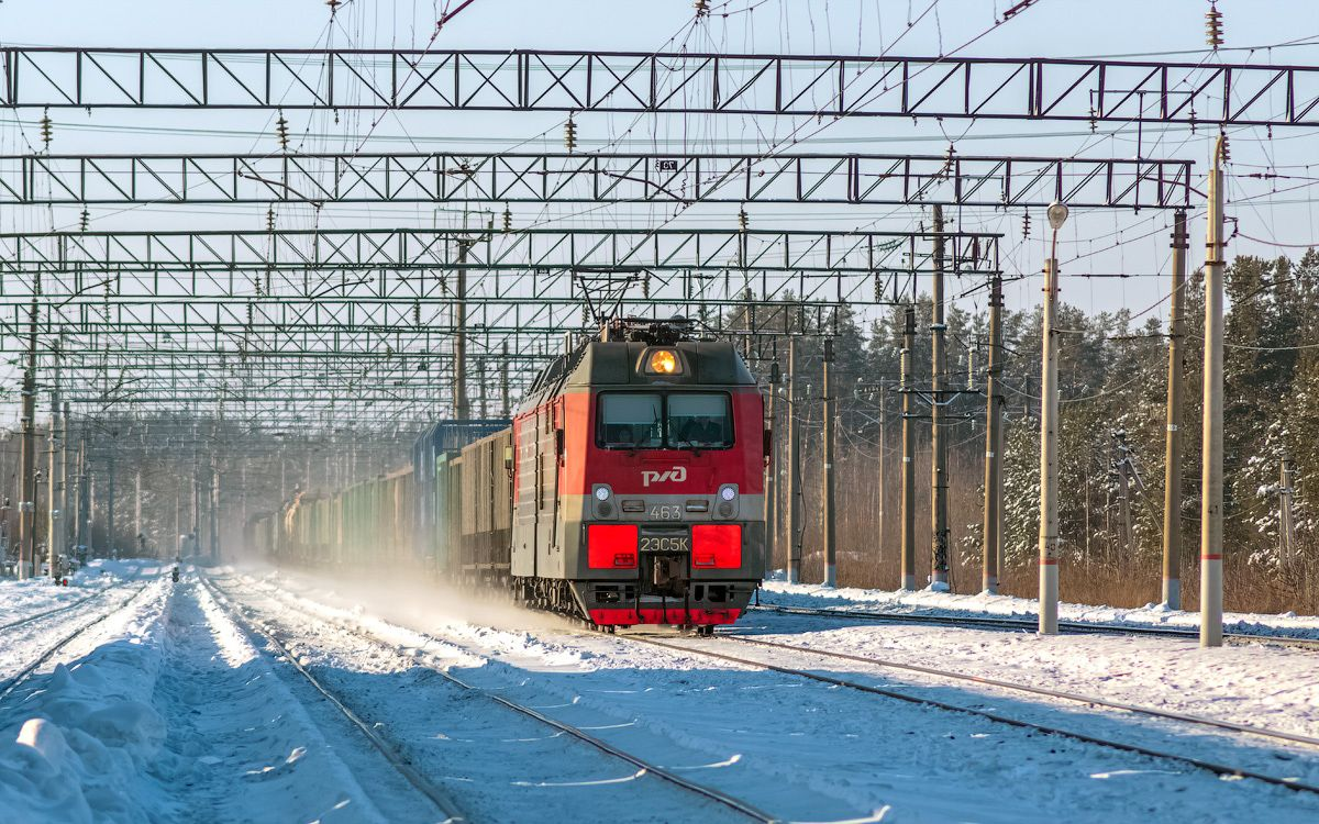 2ЭС5К-463 2ЭС5К-463 сев сжд жд транссиб поезд транспорт нея станция локомотив электровоз