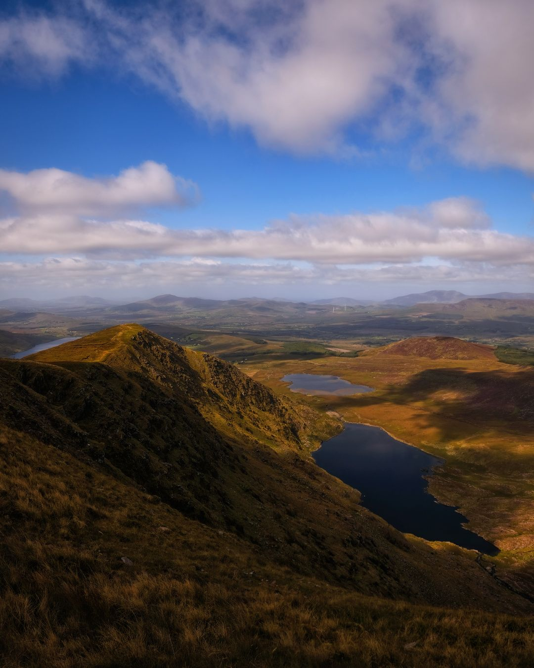 ...somewhere in Kerry... ireland kerry wild atlantic way mountains ring of nature outdoors landscape mountain scape ridge valley lake lough scenic scenery picturesque awe wonderful clouds sky cloudscape europe shades shadows