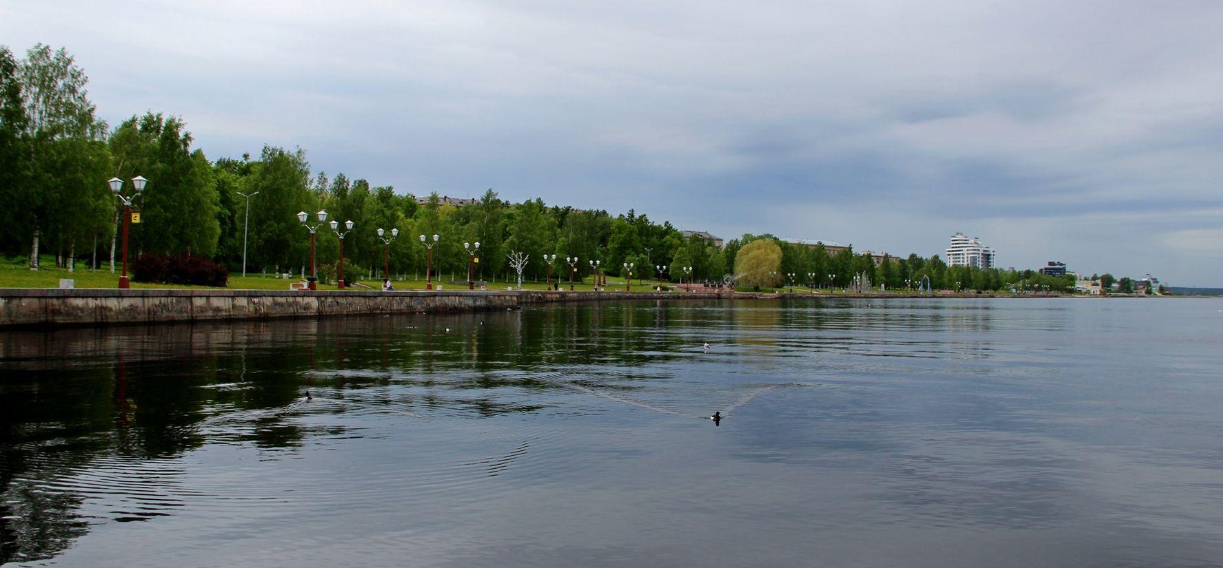 Набережная Петрозаводска петрозаводск набережная утро онега