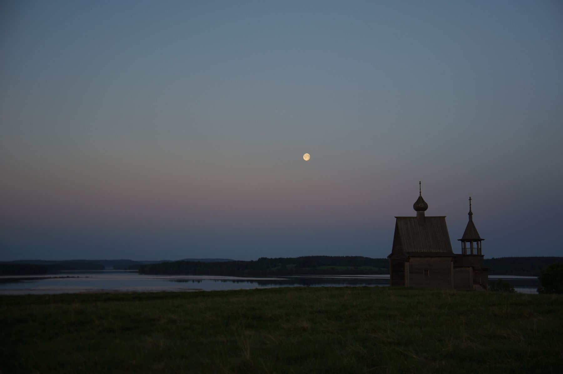 ***Ночь на Севере Кенозеро Вершинино храм ночь природа