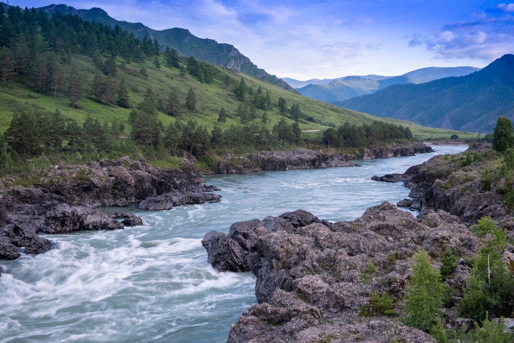 Про реку и горы река горы алтай катунь скалы перекат арактой fujifilm