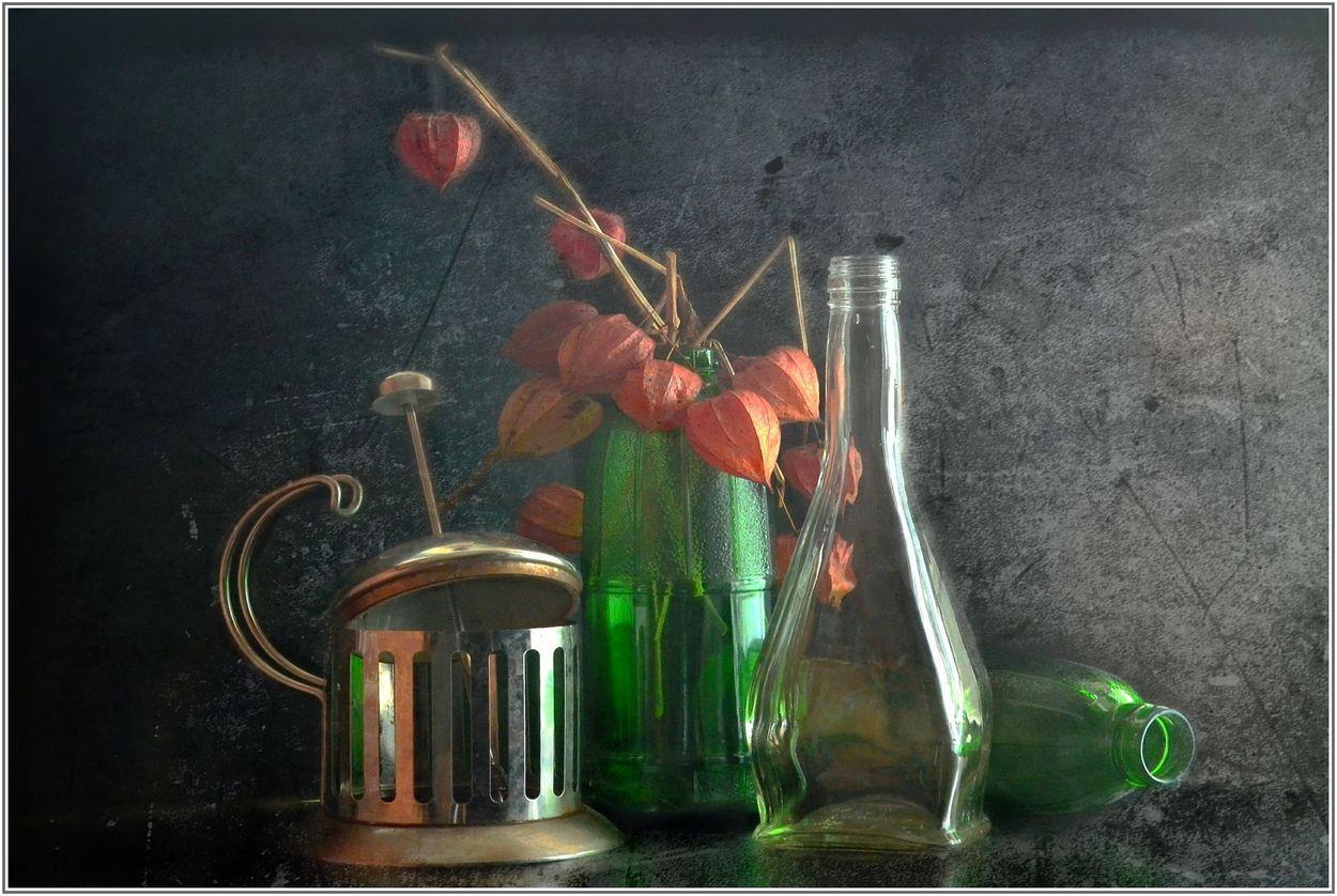 ..... Стекло и физалис ...... предметы свет идея гармония композиция
