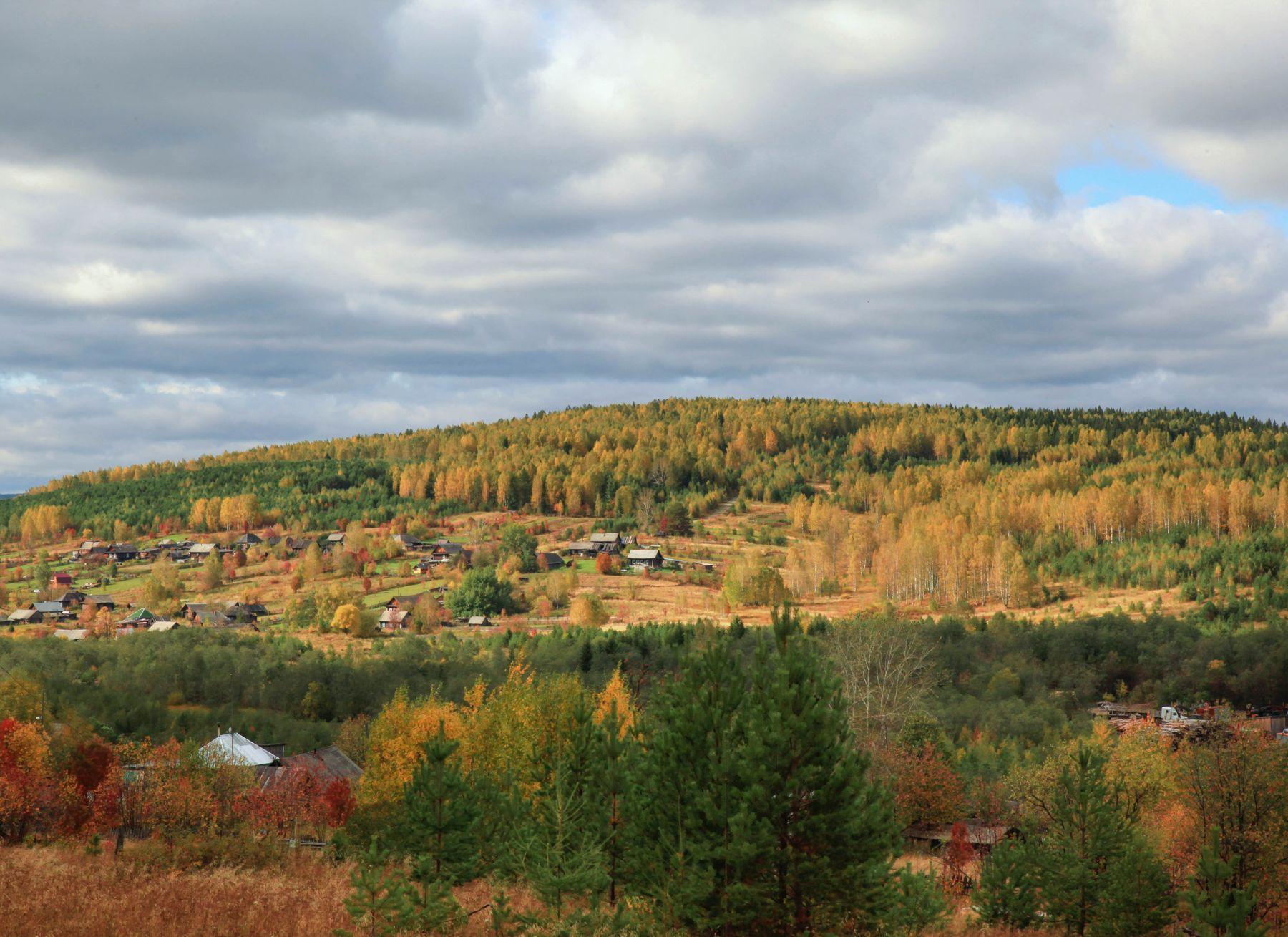 *** Деревня осень
