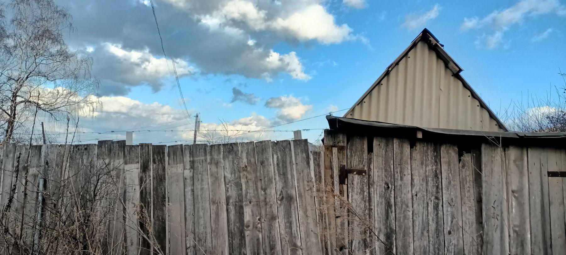 Забор Забор крыша дом деревня весна небо