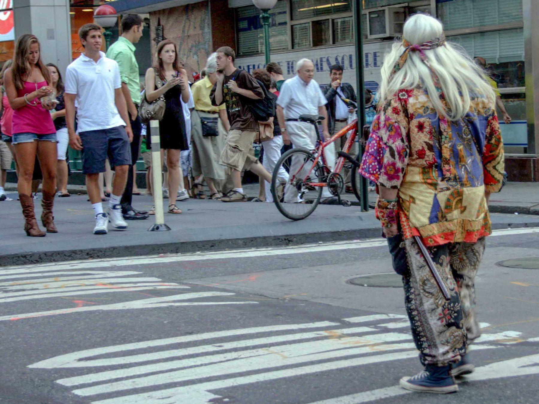 Переход по переходу, по ходу.. Нью Йорк Манхэттен