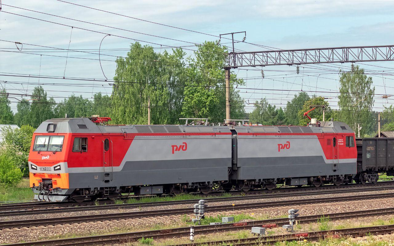 2ЭС7-008 2ЭС7 2ЭС7-008 сев сжд жд нея станция поезд транссиб транспорт