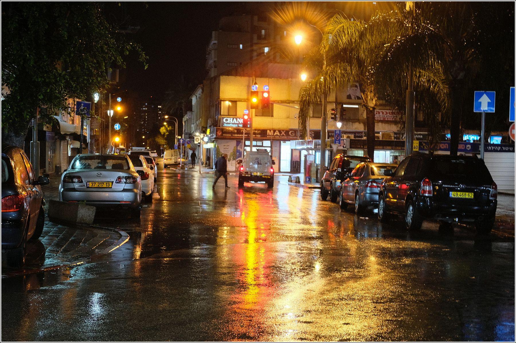 Дождь. street city rein midnight