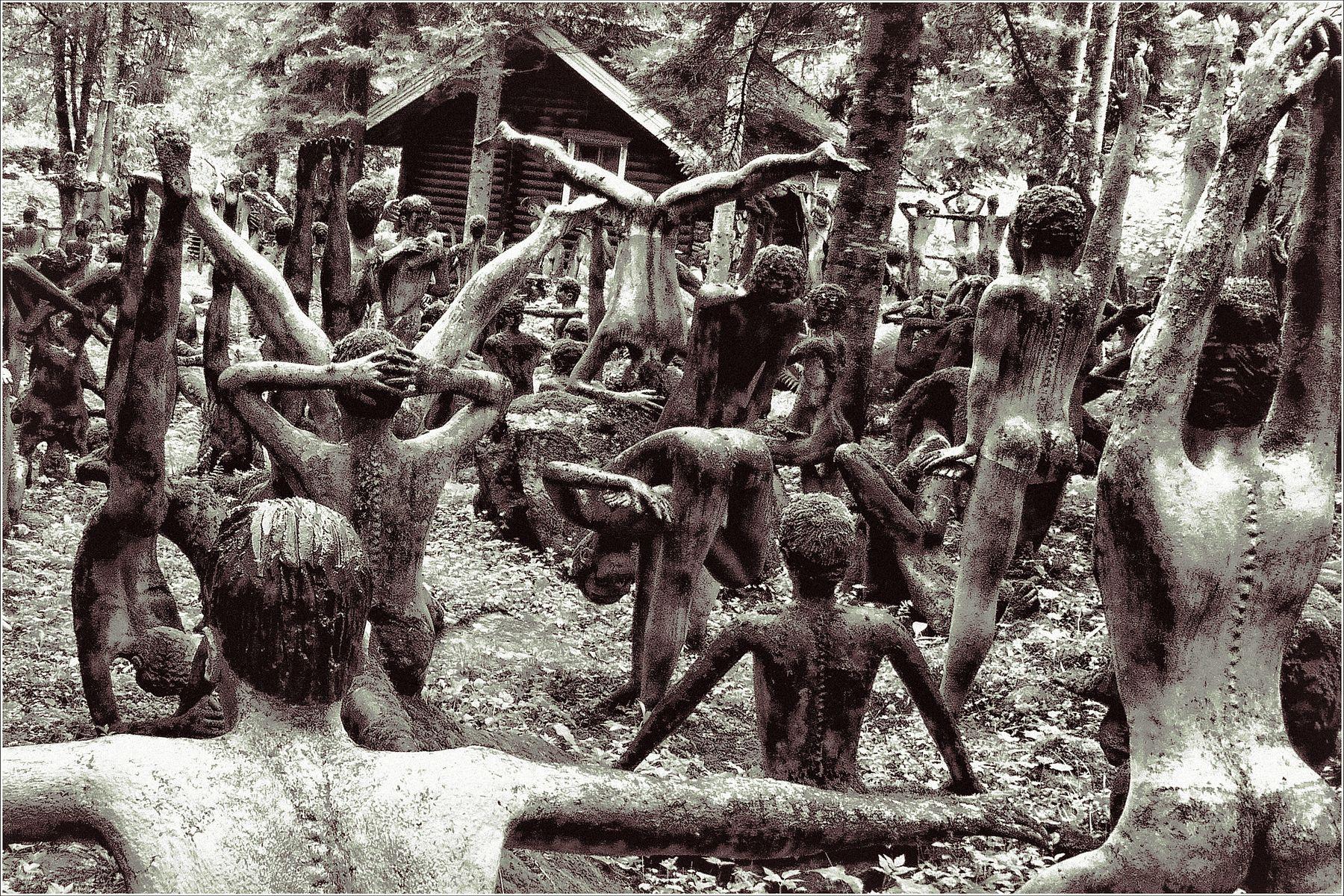 *Утренняя гимнастика в племени Зарумба* фотография путешествие Европа Финляндия Париккала парк безумия остальное Фото.Сайт Светлана Мамакина Lihgra Adventure юмор