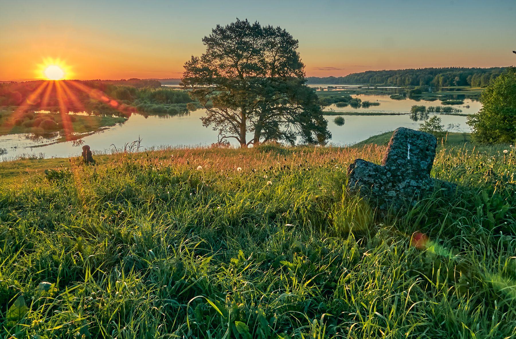 Рассвет на Савкиной горе рассвет пейзаж михайловское