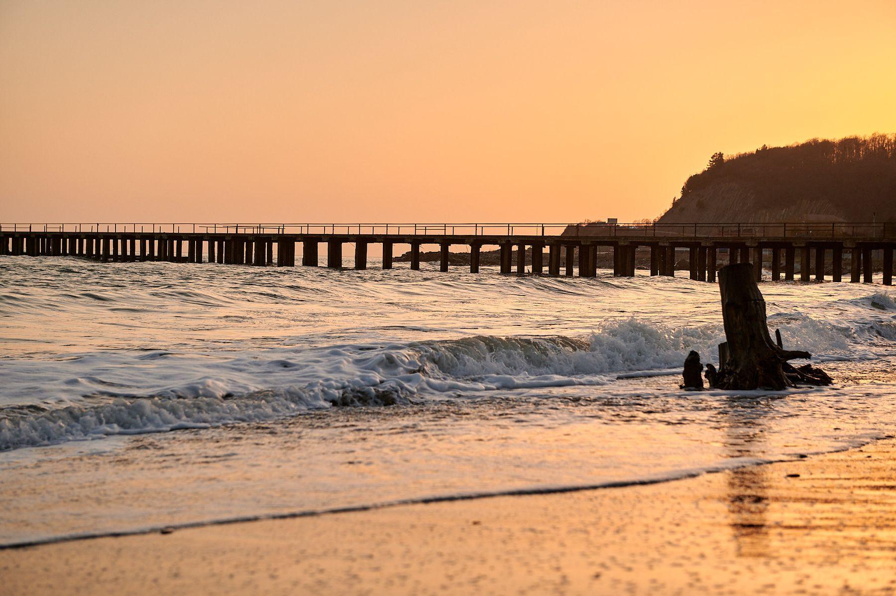 *** Море закат лето солнце пляж набережная красота небо