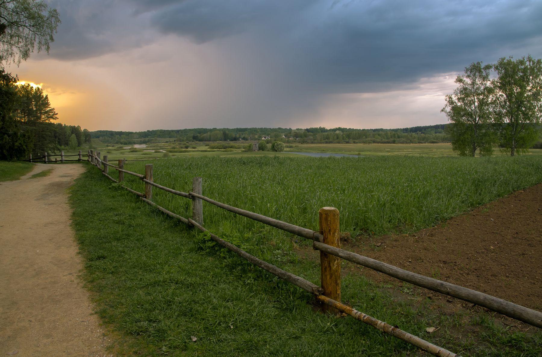 *** михайловское пушкинские горы закат