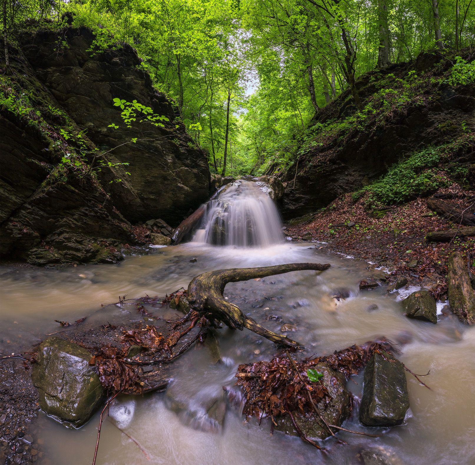 В окрестностях Никитино 2 северный кавказ никитино водопад ручей капустина май