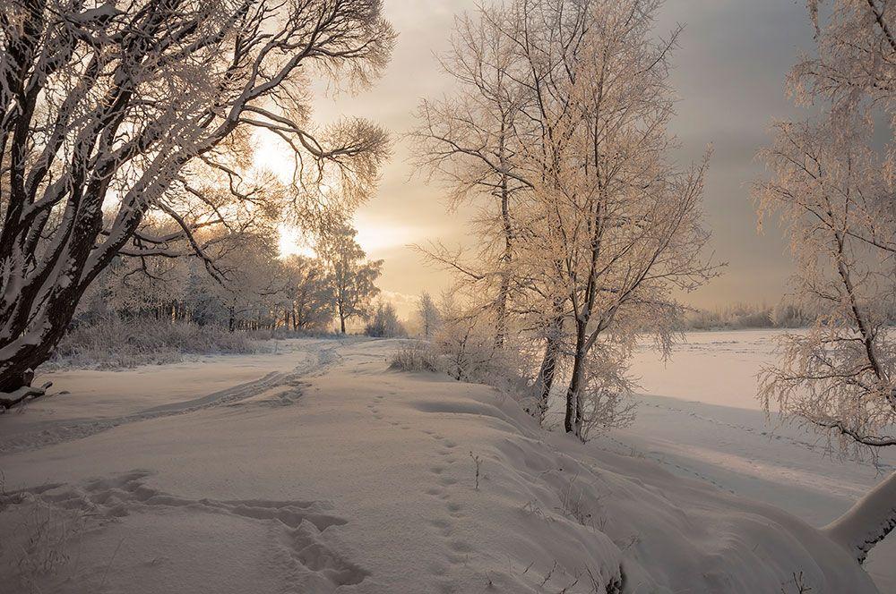 С Крещением !!! снег иней лед следы свет