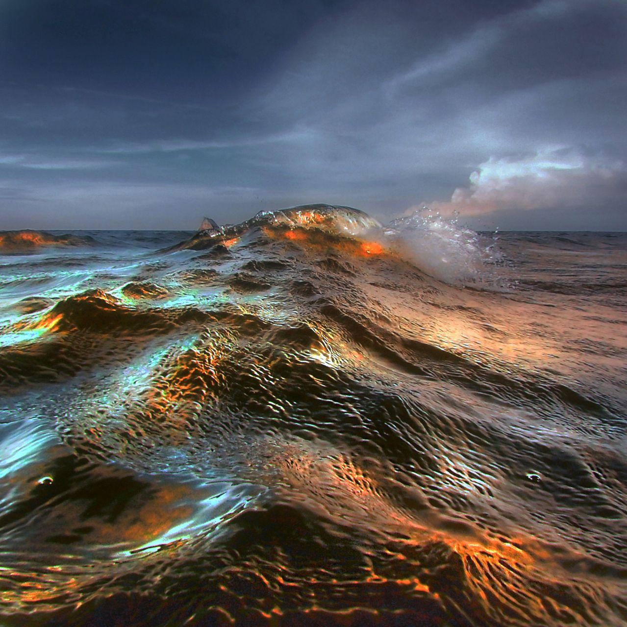*** вечер.море.залив.волна Мангальсала Рига