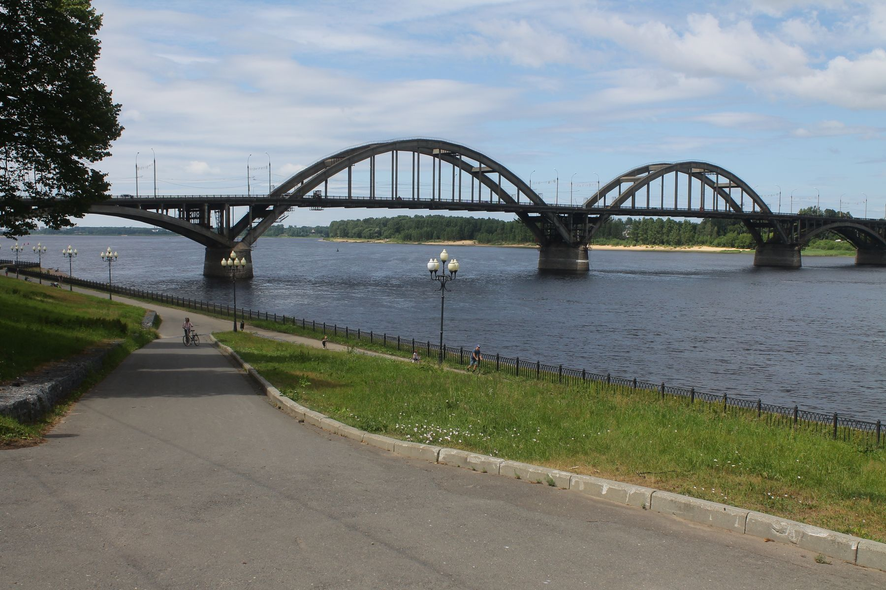 Волжский мост в Рыбинске (Ярославская область) Рыбинск Волга