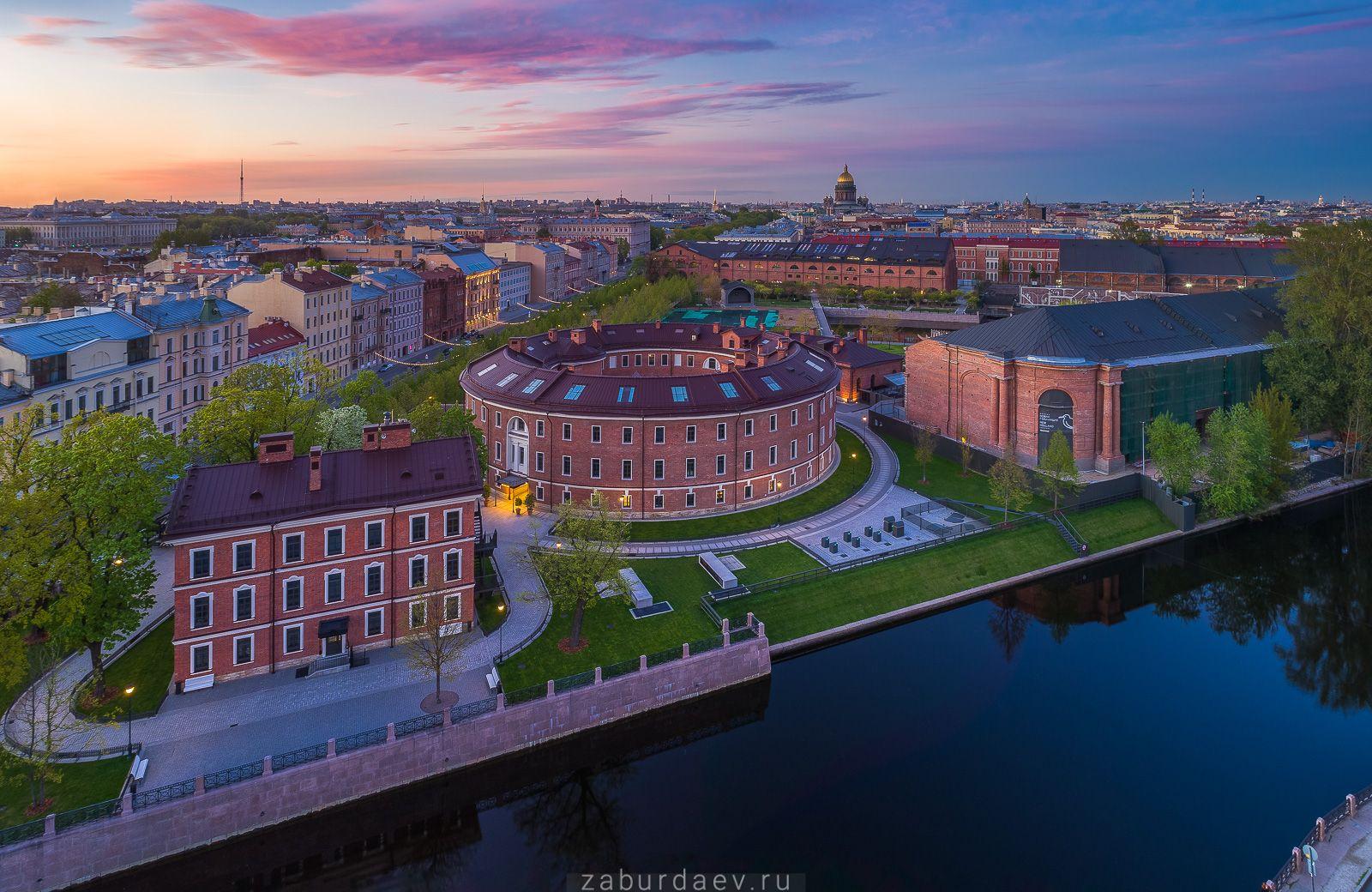Новая Голландия россия петербург город весна вечер закат