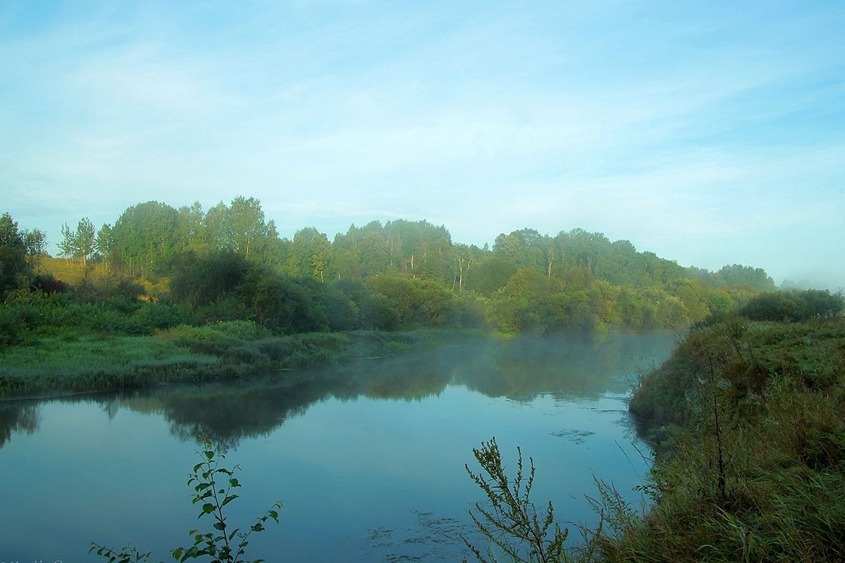 Наступление дня на реке Великая.