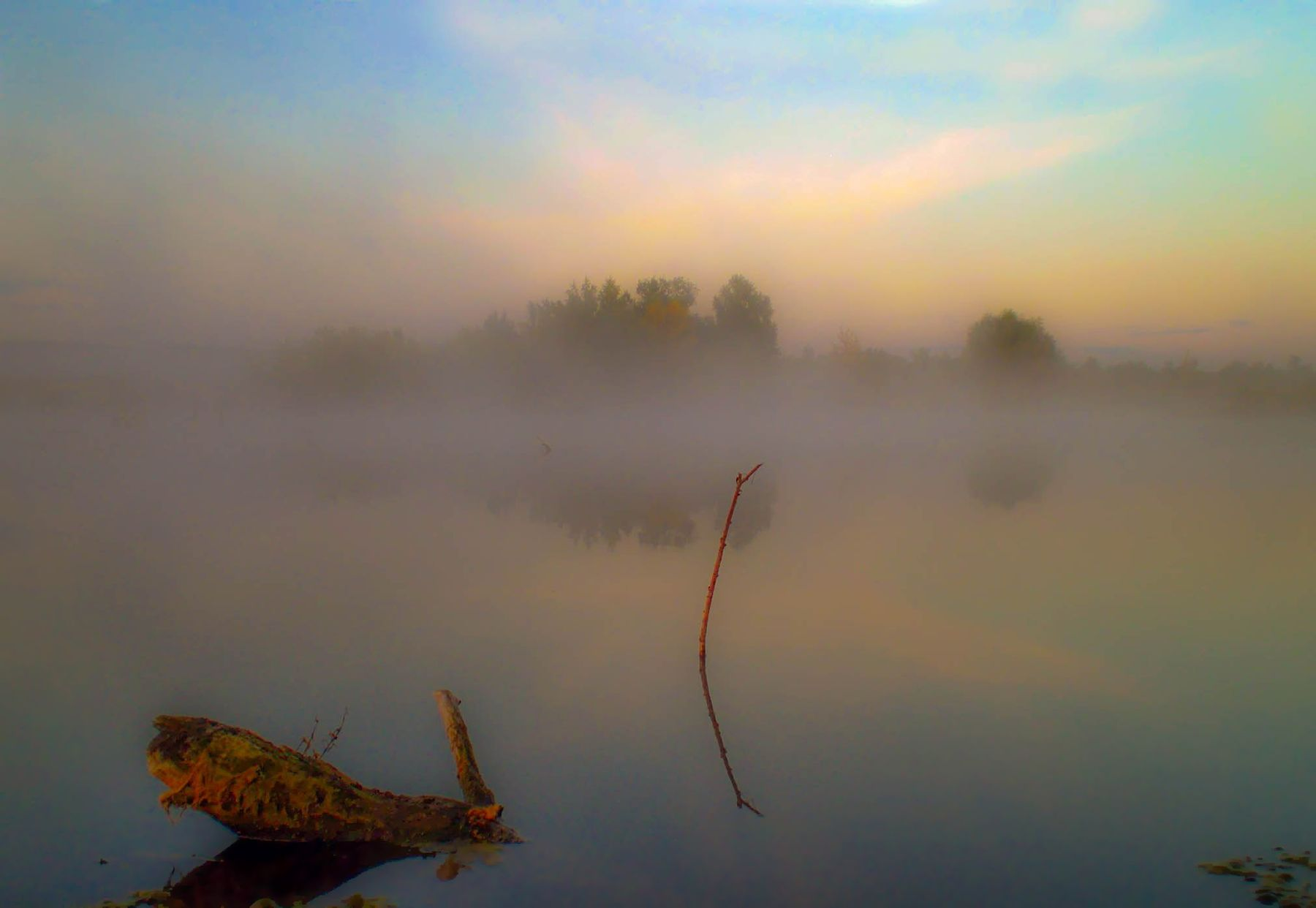 Утро утро туман Саратовскаяобласть пруд пейзаж осень