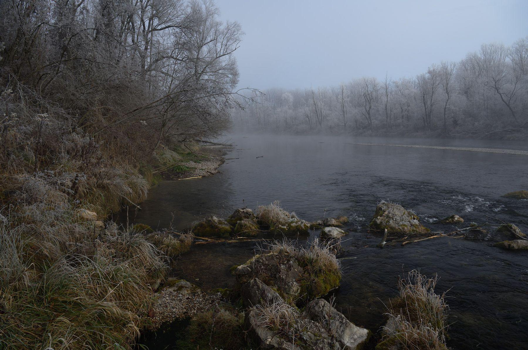 ЪЪ утро туман река