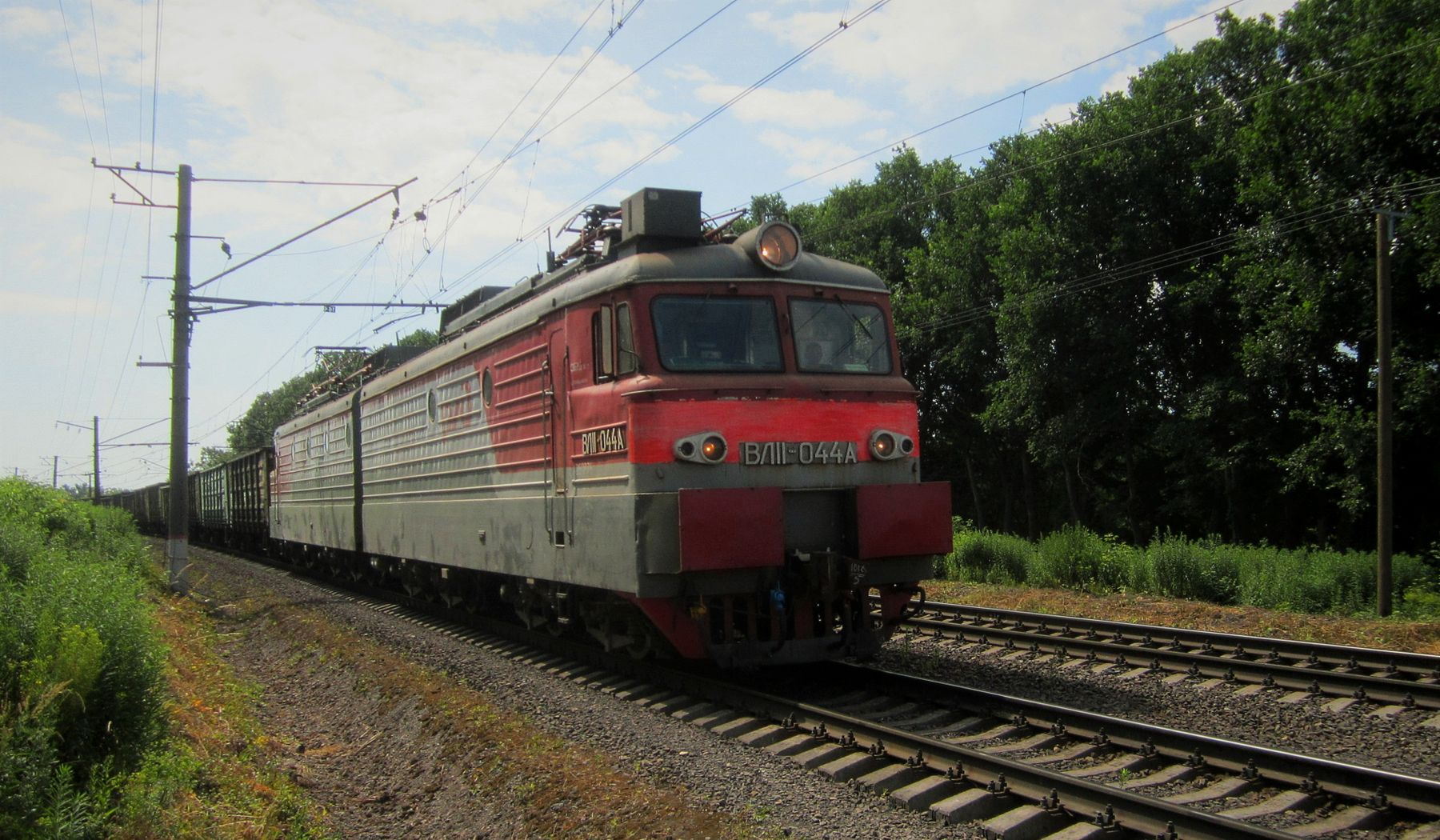 ВЛ11 - 044А ВЛ11 электровоз лето железная дорога
