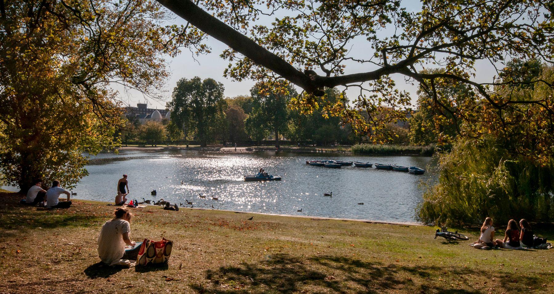В Риджентс-Парке... Лондон Риджентс-Парк октябрь