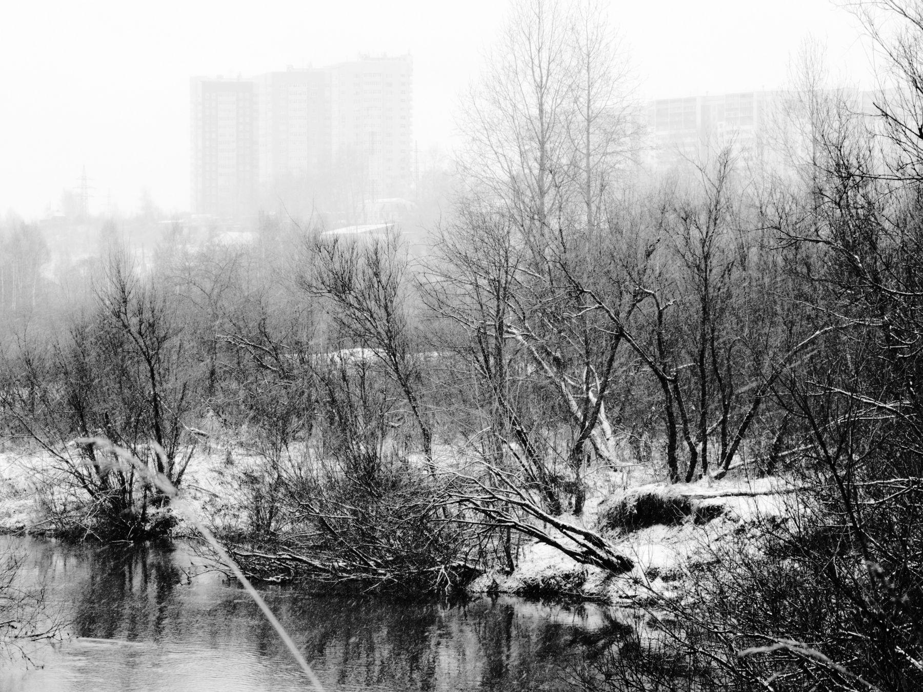 Окраина зима на носу Шварц